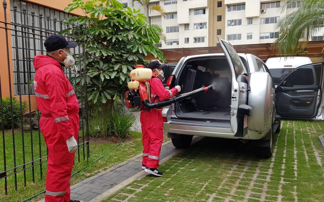 Desinfección de vehículos en tiempos del COVID-19